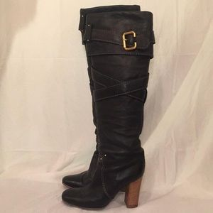 CHLOE Knee High Black Boots